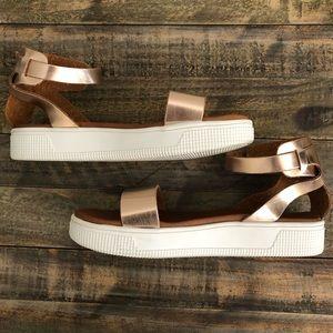 Mia Little Ellen Girls Rose Gold Platform Sandals